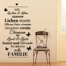 Stickers Design Eine-tolle-Familie Vinyl Wall Decal Art Decor For Living Room Poster Home House Decoration