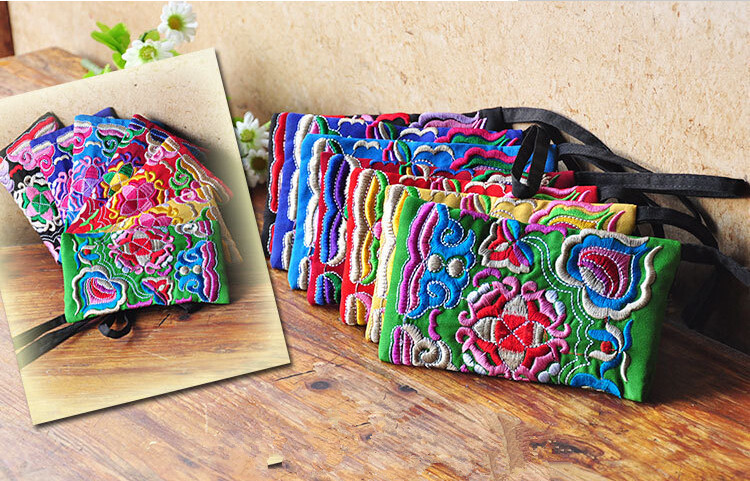 Free Shipping ! Top Women embroidered mobile phone handbag small bag lady nation style embroidery canvas bag special aerlis men women canvas retro 6inch phone portable small waist bag