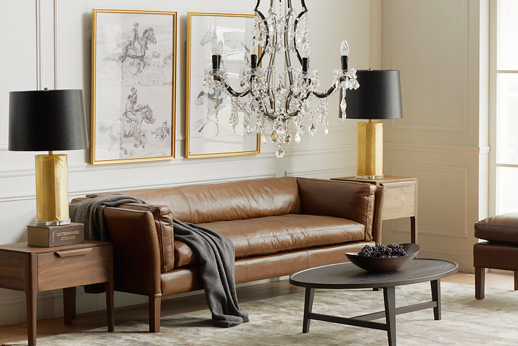 Incroyable Pre / 10% Thanksgiving / American Country / Retro / Import Full Leather / SORENSEN  Sofa / 3 / Single / Person / Brown In Hotel Sofas From Furniture On ...