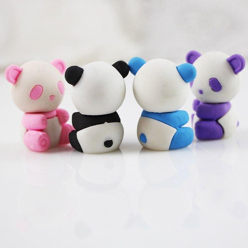 1pcs cute Cartoon eraser lovely panda eraser children stationery gift prizes kawaii school supplies papelaria цена 2017