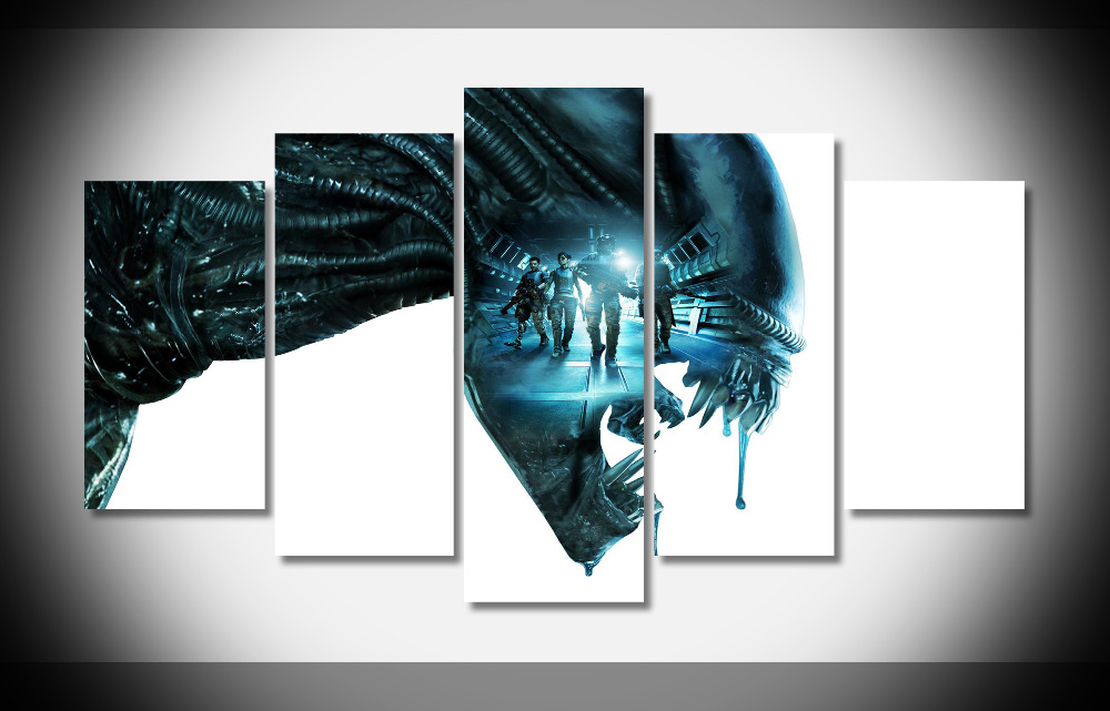 5312 aliens colonia marines Poster Framed Gallery wrap art print home wall decor wall picture Already to hang digital print