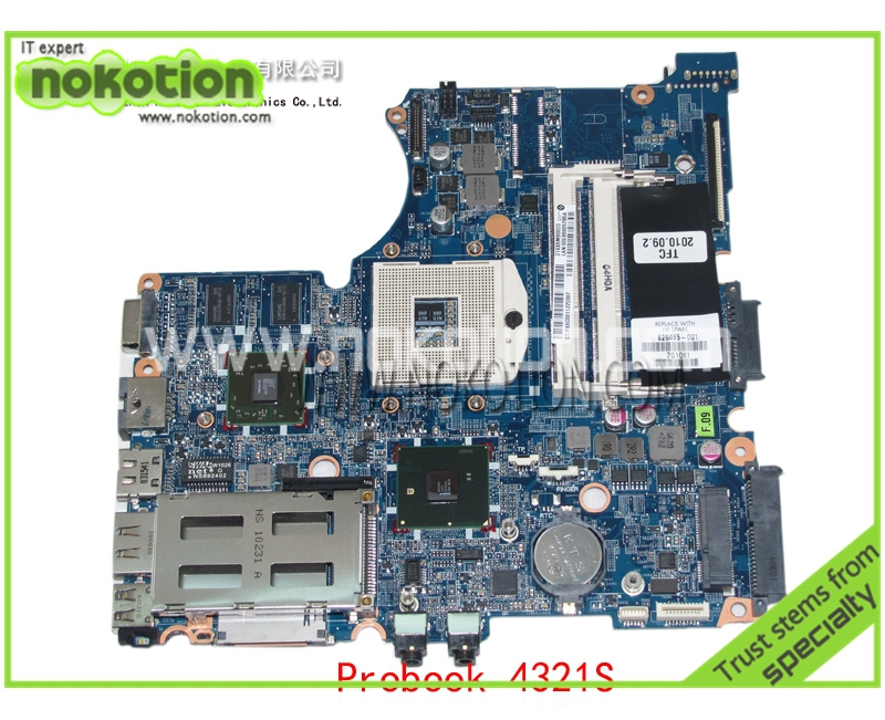 NOKOTION 628485-001 laptop motherboard for hp probook 4320s 4420s Mobility Radeon HD 5430 DDR3 Mainboard 654306 001 fit for hp probook 4535s series laptop motherboard 1gb ddr3 socket sf1 100% working