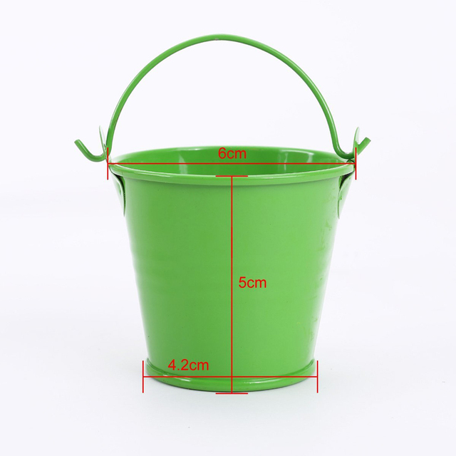 New 12pcs Colorful Mini Metal Bucket Candy Favours Box Pail Wedding Party Gifts Dropshipping keg Couleur barril de color Hot