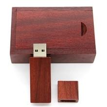 Top Quality Wooden Rectangle 8GB/16GB/32GB/64GB USB 3.0 Flash Memory Stick Wooden USB Flash Drive Pen Drive 16GB 1TB 2TB 128GB