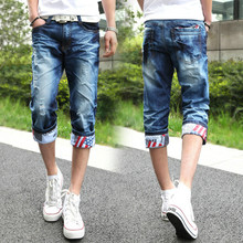 2016 Men cargo shorts summer military bermuda masculina loose multi-Pocket male solid cropped trousers Free Shipping