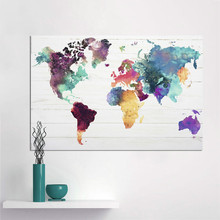 Pop Art Canvas painting  Wall Pictures for Bedroom Decorative Home Decor World Map Decoration Painting
