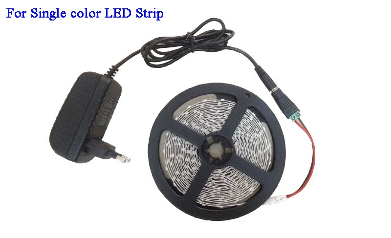 3528 5050 RGB led strip Cold white Warm white blue red green yellow with remote control and power adapter (3)