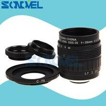 FUJIAN 35 мм F1.7 CC TV lens + C Mount + Macro ring для Fuji Fujifilm