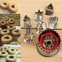 7 шт./лот формочки для печенья инструменты 3D декорации из нержавеющей стали Формочки Для Печенья пряников форма для торта резка для печенья и помадки для печенья