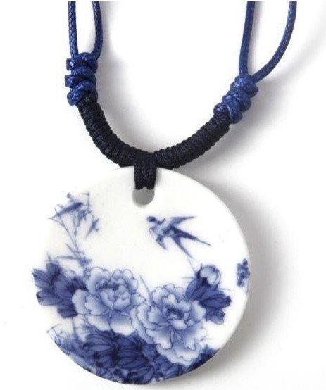 wholesale free shipping jewelry vintage personalized pendant women ceramic top grade necklace , special present  N0384