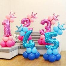 13 шт./компл. на день рождения воздушные шары воздушные номер Фольга воздушные шары с днем День рождения украшения дети клипсы для воздушных шаров, Фотофон с изображением мультяшной шляпы