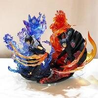 23 см аниме Наруто ПВХ фигурка Zero Uchiha Itachi Fire Sasuke Susanoo Relation Коллекционная модель игрушки