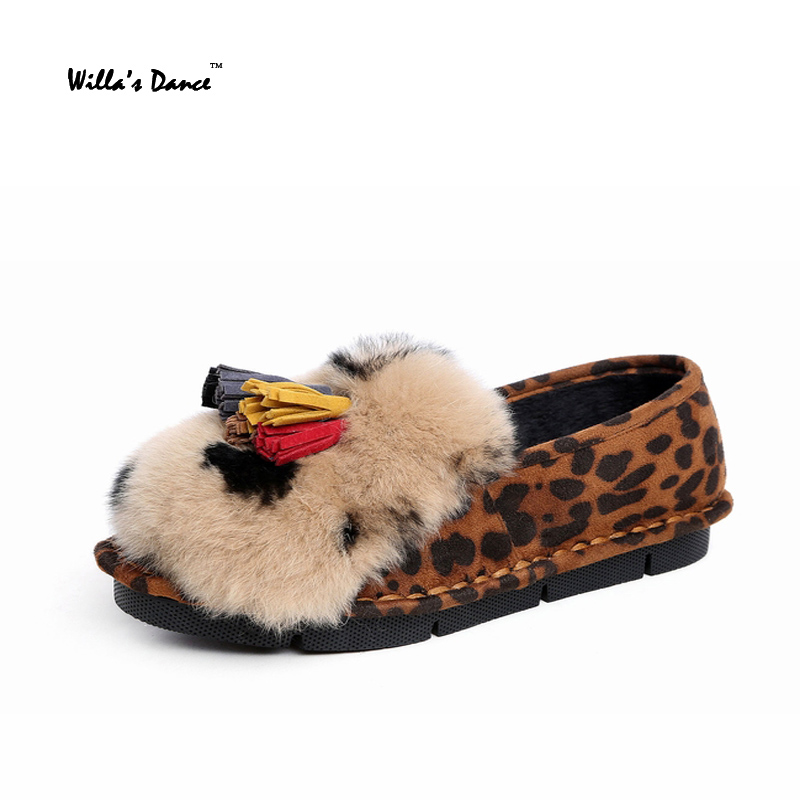 Willa s Dance font b Women b font Shoes 2016 Rabbit Fur Moccasin gommino High Quality