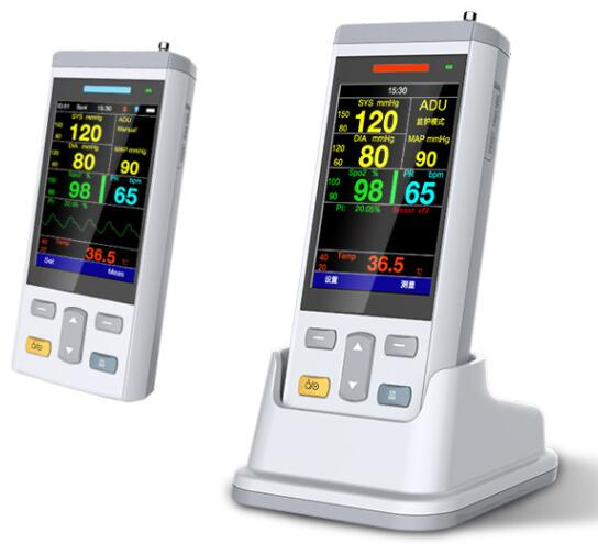 Portable SPO2/TEMP/NIBP 3.5 Inch vital signs/vital sign monitor patient monitor with rechargeable Li-battery cd диск skillet vital signs 1 cd