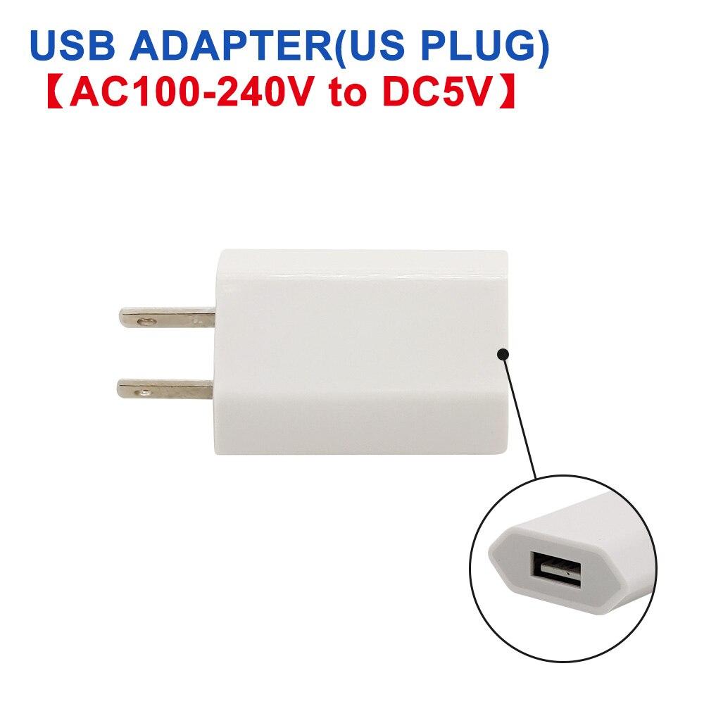 DC 5 В Мини светодиодный Ночной светильник, портативный 10 светодиодный s 24 светодиодный s USB настольная лампа для чтения, сгибаемый удлинитель, адаптер для США, книжный светильник s - Испускаемый цвет: Adapter (US)