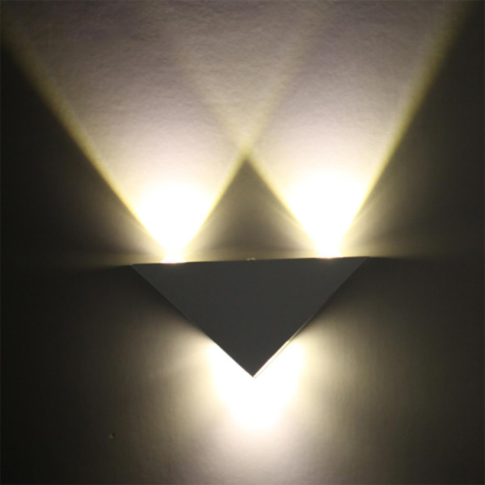 Bedroom modern wall lights - Triangle Led Wall Light Warm White Lamp 3w Aluminum Modern Home Lighting Indoor Outdoor Decoration Ac85