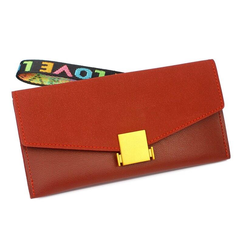 Lady Purses Handbags Women Hasp Wallets Clutch Zipper Coin Purse Female Money Card Bag Notecase Dull Polish Long Wristlet Wallet