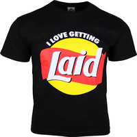 2017 Summer Style T Shirt I Love Getting Laid Sexually Explicit Mens Funny Printing T Shirts