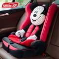 Lovely Cartoon Design Children Safety Car Seat With ISOFIX  Baby Chair Cute Minni Headrest,  Auto Chair for 9~36kg Kids