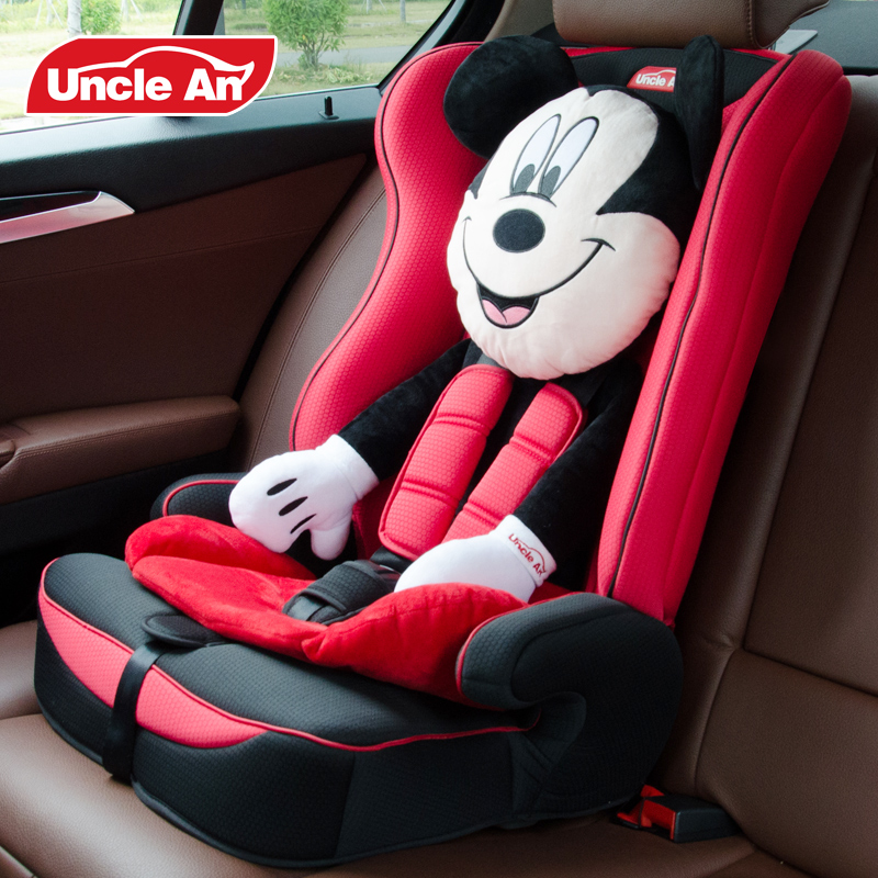 lovely cartoon design children safety car seat with isofix baby chair cute minni headrest auto chair for 936kg kids