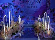 The new-style wedding road leads the love to the N power road, which leads to the setting of the stage background decoration and недорого