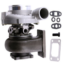 Turbocompresor GT3076R GT30 GT3037 500HP T3 Turbo, válvula de descarga externa para Skyline, 4 tornillos, Turbo, incluido con conexión por brida, 82 A/R .60 compresor