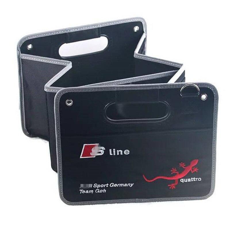 Car Trunk Storage Box Tools Organizer FOR Audi A1 A3 A4 B5 B6 B7 B8 A5 C5 A6 C6 C7 A7 A8 Q3 Q5 Q7 TT 80 90 100 8L Container Bags