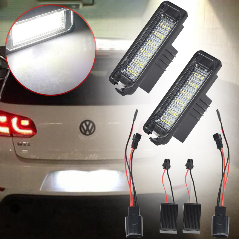 2017 1 Pair 18SMD License Plate LED Light Error Free Number 6000K For VW MK5 tz me 8111 travel switch limit switch self resetting micro switch one open and one close