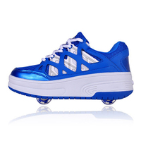 Inline Roller Skates Shoes With Two Wheels Unisex Sneakers Children Silent Bearings Wear resistant Soles Boots
