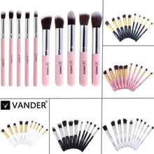 (10 pieces/set) Professional Makeup Brush Sets Foundation Makeup Brushes Make Up Brush Cosmetics Powder Tools Black/White/Pink