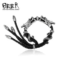 2015 New Cool Punk Dragon Bracelet For Man 316 Stainless Steel Man S High Quality Jewelry