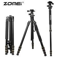 New Arrival Zomei Q666 Portable aluminium monopod stand professional camera tripod for slr video tripodes para reflex