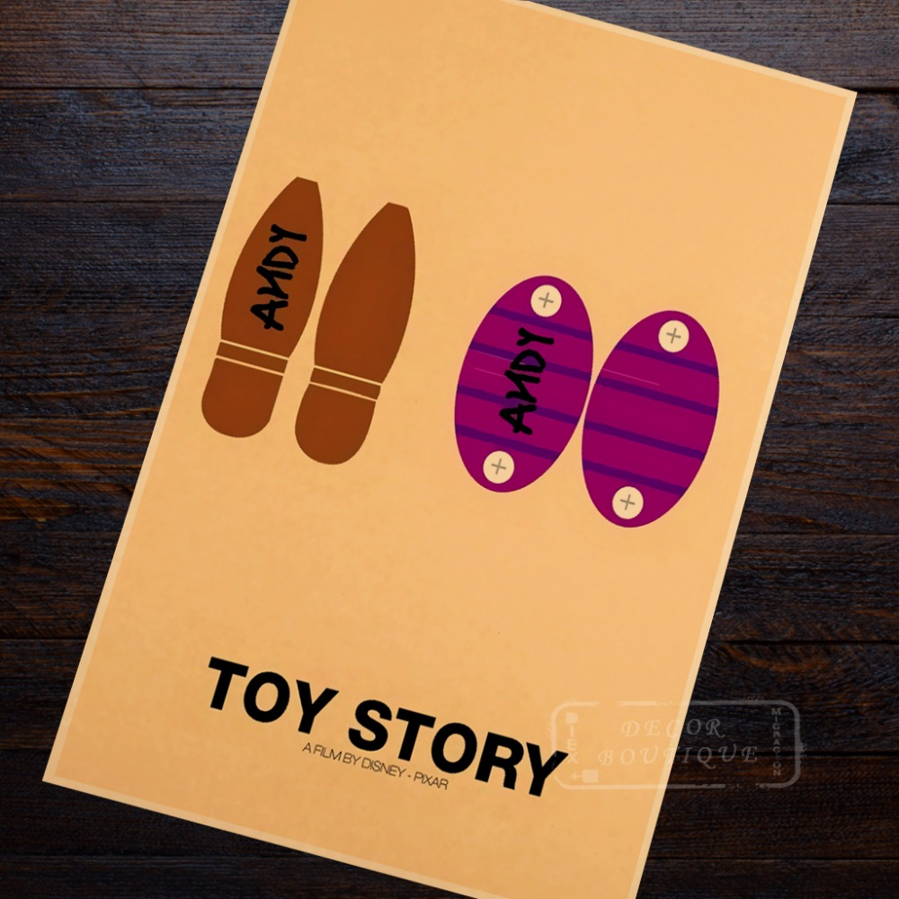 Minimalist Art Toy Story Propaganda Vintage Kraft Poster Decorative ...