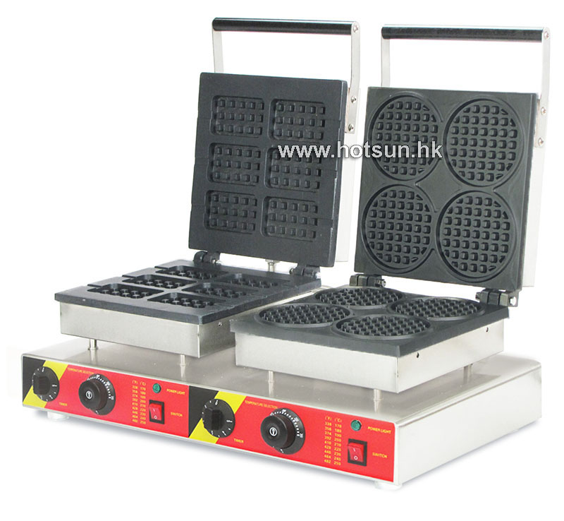 Free Shipping Commercial Non-stick 110V 220V Electric 2 in 1 Belgium Waffle Stick + Mini ...