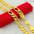 High Quality 24K Gold Plated Men Necklaces Jewelry Wholesale 4mm 6mm 8mm 10mm Chain Men Necklaces
