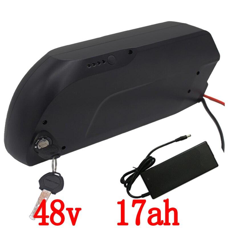 Douanière libre batterie e-bike pour Panasonic cellule 48 v 17Ah requin tigre e-bike li-ion batterie pour 8fun 48 v 750 w 1000 w kit moteur