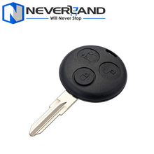 3 Button Remote Uncut Blade Car Key Fob Case Shell for Mercedes Benz Smart Fortwo 450 Freeshipping D05