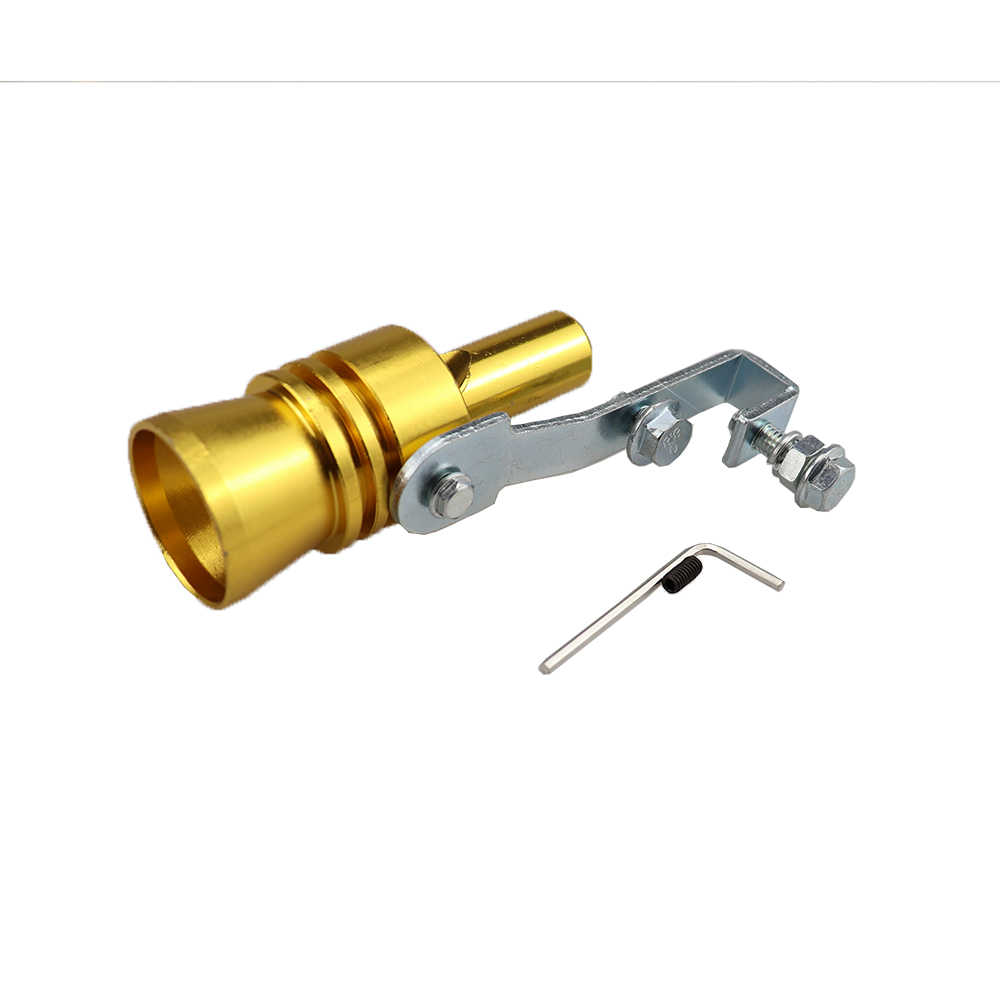 Candybarbar Universal Turbo Sound Whistle Exhaust Pipe Tailpipe Fake Blow-off Valve Simulator Aluminum Car Accessories