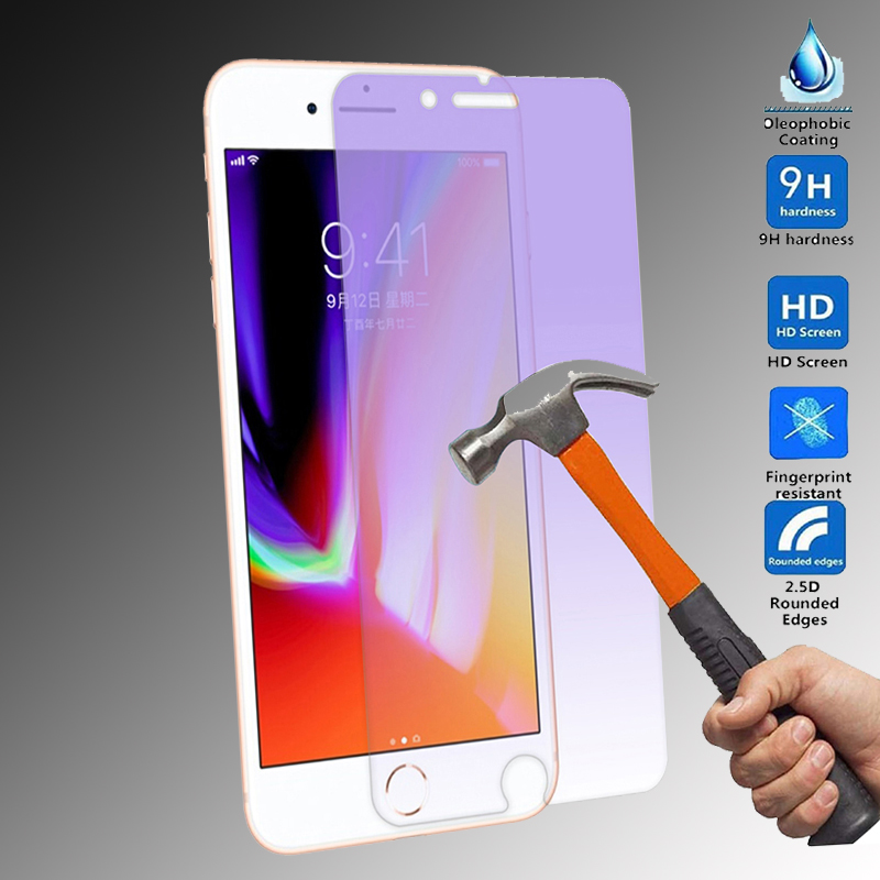 Tempered Glass for Iphone X Screen Protector for Iphoe 6 7 8 Plus 5s Se Anti Blue Light  ...