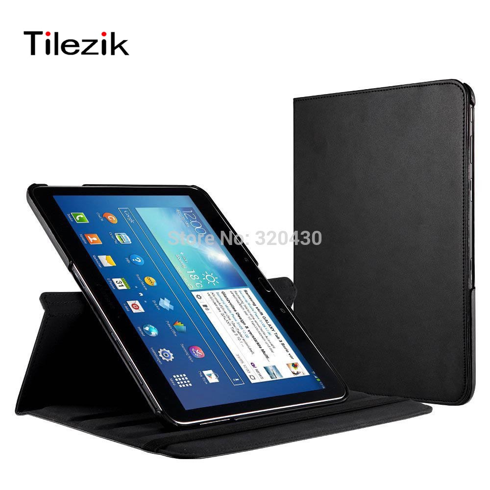 360 Degree Rotating Stand Holder PU Leather Protective Cover For Samsung Galaxy Tab 4 10.1 inch T530 T531 Tablet Case