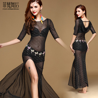 2019 Rushed Branded Garments Belly Dance Costume Set Professional For Women Bellydance dress With Safety PantsFF6151