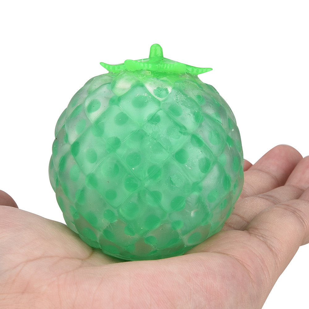 Rubber Pineapple Ball Hand Wrist Squeeze Toy Stress Autism Mood Relief Gift NOV7