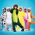 Pokemon Pikachu Dinosaurios Vacas Chinchillas Panda ropa de Noche Bata de Franela Con Capucha Pijamas de Halloween Carnaval Anime Cosplay Traje