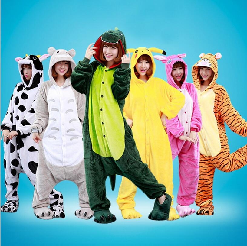 Pokemon Pikachu Dinosaurs Cows Chinchillas Panda Sleepwear Pajamas Halloween Carnival Anime Cosplay Costume Flannel Hoodie Robe