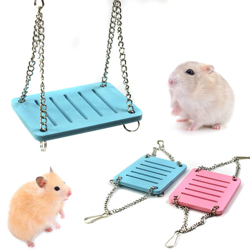 Cute Parrot Hamster Essential Small Swing Hanging Bed Shake Suspension House Props Pet Products Toy P7Ding