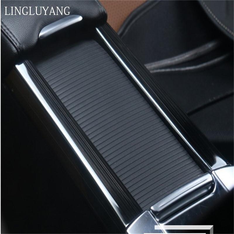 Estilo do carro titular copo caixa de armazenamento decoração lantejoulas acessórios adesivos aço inoxidável capa para volvo xc60 s60 v60