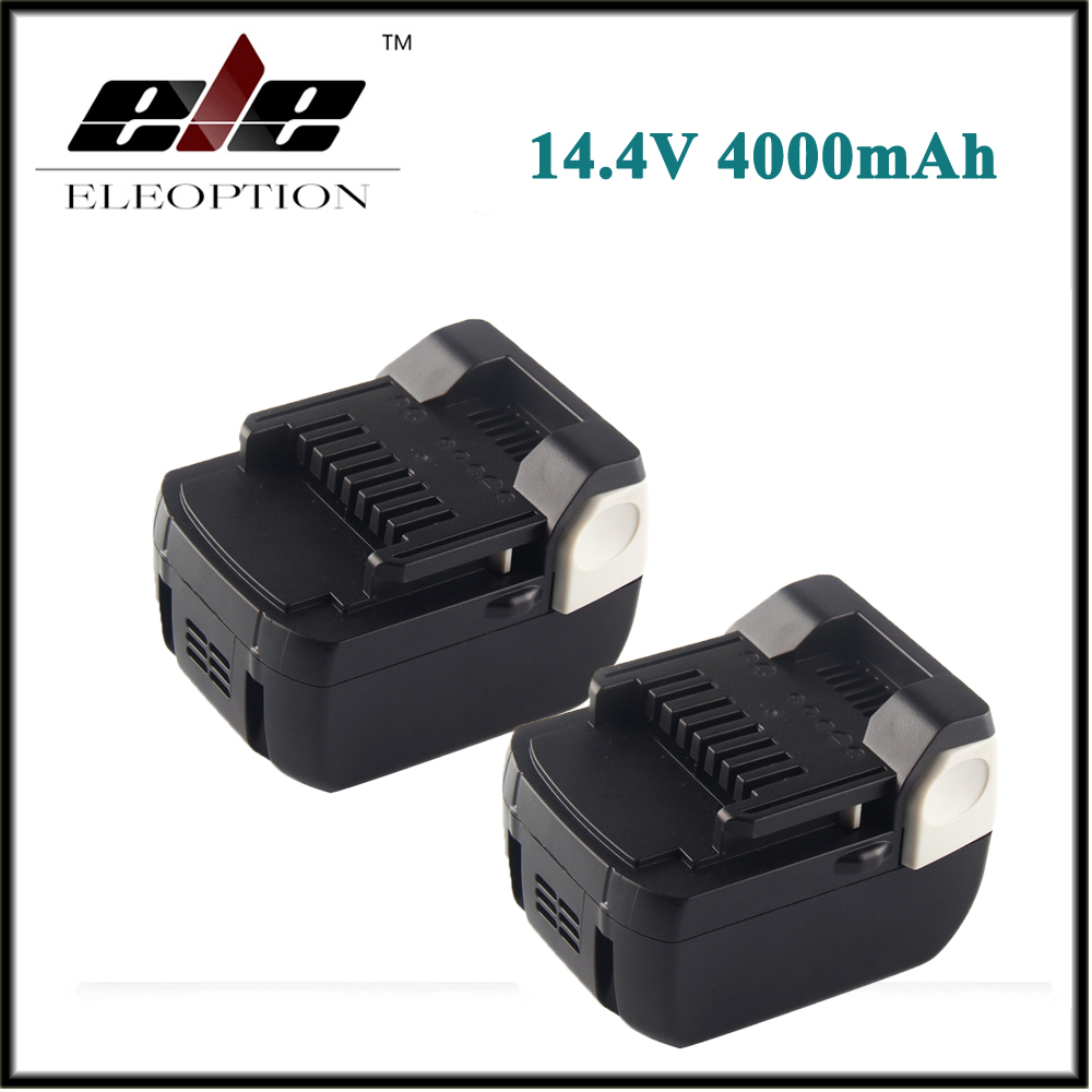 2x Eleoption 14.4V 4000mAh Li-Ion Replacement Battery for Hitachi BSL1430 BSL1415 326236 327729 326824 326823 BCL1430 C-2 ac220 240v charger uc18yksl replace for hitachi 14 4v 18v li ion battery uc18yrsl bsl1415 bsl1420 bsl1440 bsl1450 uc18ygsl