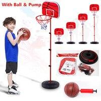 Kids Basketball Stands Height Adjustable Kids Basketball Goal Hoop Toy Set Basketball for Boys Training Practice Accessories