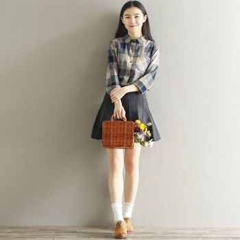 276226feceddb16 Для женщин Рубашки в клетку хлопковые удобные рубашки 2018 Весна Новая мода  Повседневное нагрудные Блузки женские Топы; рубашка с длинными ру.