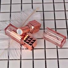 20Pcs/Lot Diy High-Grade 12.1Mm Empty Plastic White Rose Gold Lipstick Tube Travel Cosmetic Container Lip Balm Tubes Bottles ( free shipping 100 pcs lip balm tube 5ml plastic lipbalm tubes 5g transparent lipstick fashion tubes